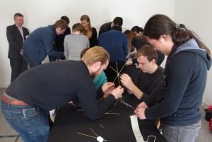 Teamwork: the marshmallow challenge at the 2016 GRADnet Winter School