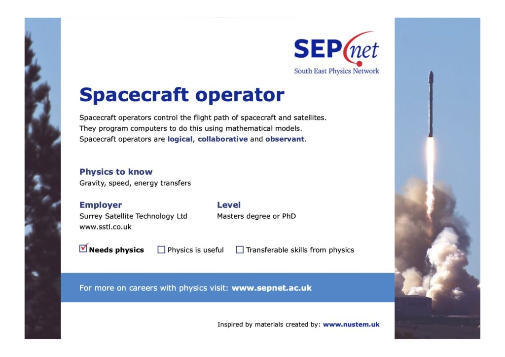 Careers with Physics - Spacecraft Operator