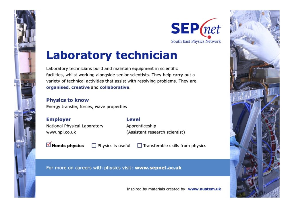 Careers with Physics - Laboratory technician