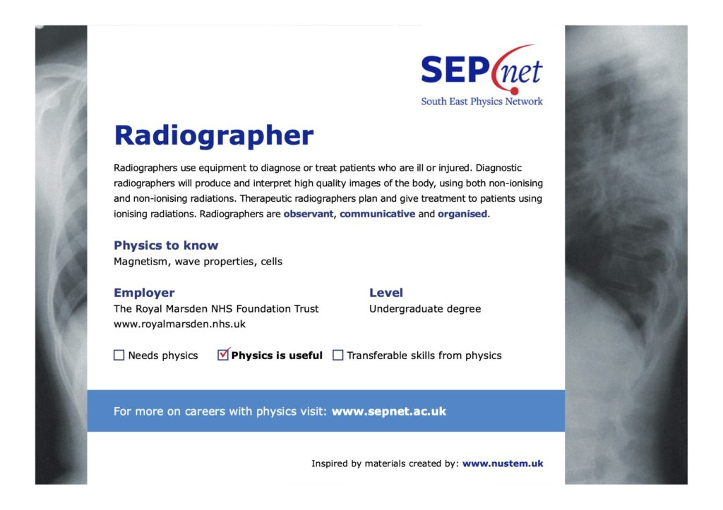 Careers with Physics - Radiographer