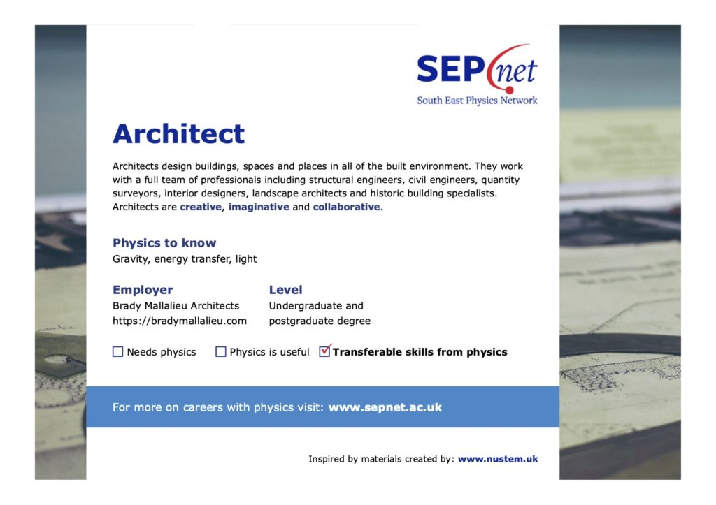 Careers with Physics - Architect