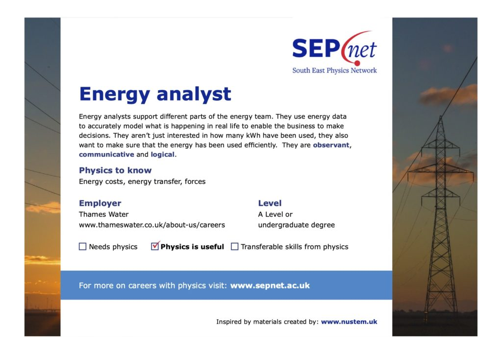 Careers with Physics - Energy Analyst