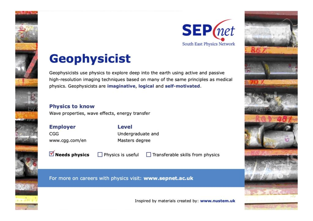 Careers with Physics - Geophysicist