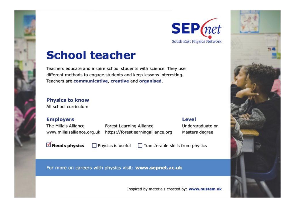 Careers with Physics - School teacher