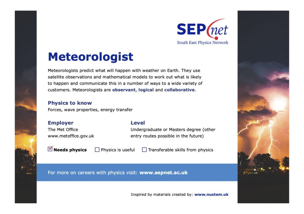 Careers with Physics - Meteorologist