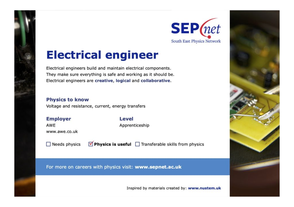 Careers with Physics - Electrical engineer