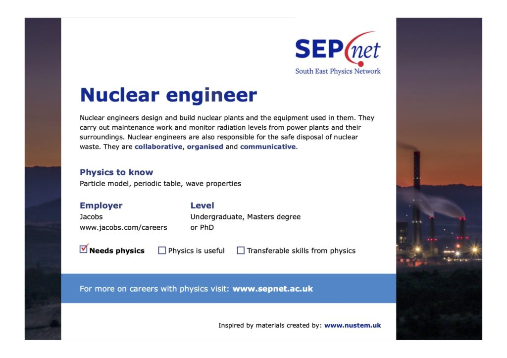Careers with Physics - Nuclear Energy